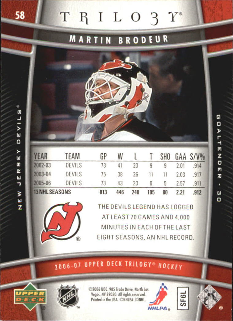 2006-07-Upper-Deck-Trilogy-Hockey-Cards-Pick-From-List thumbnail 89