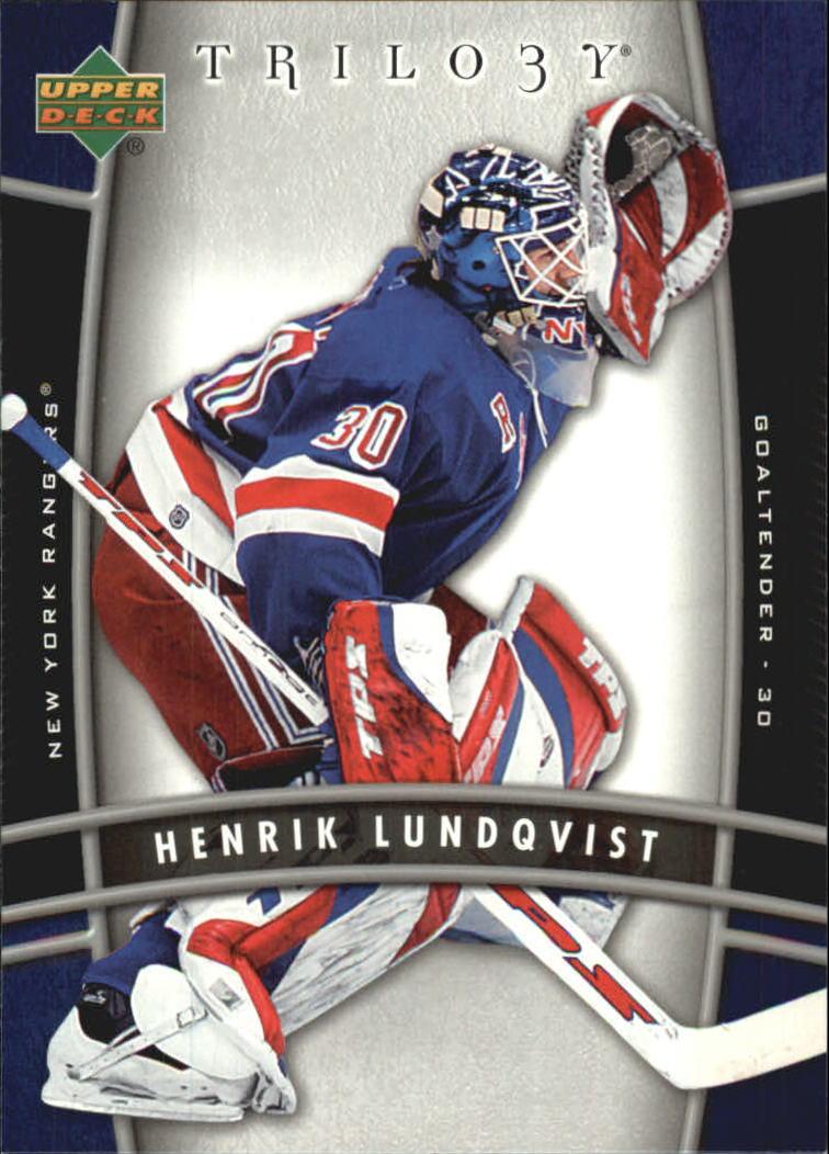 2006-07 Upper Deck Trilogy #65 Henrik Lundqvist