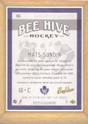2006-07 Beehive #165 Mats Sundin back image