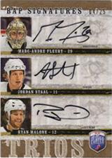 2006-07 Be A Player Signatures Trios #TFSM Ryan Malone/Marc-Andre Fleury/Jordan Staal