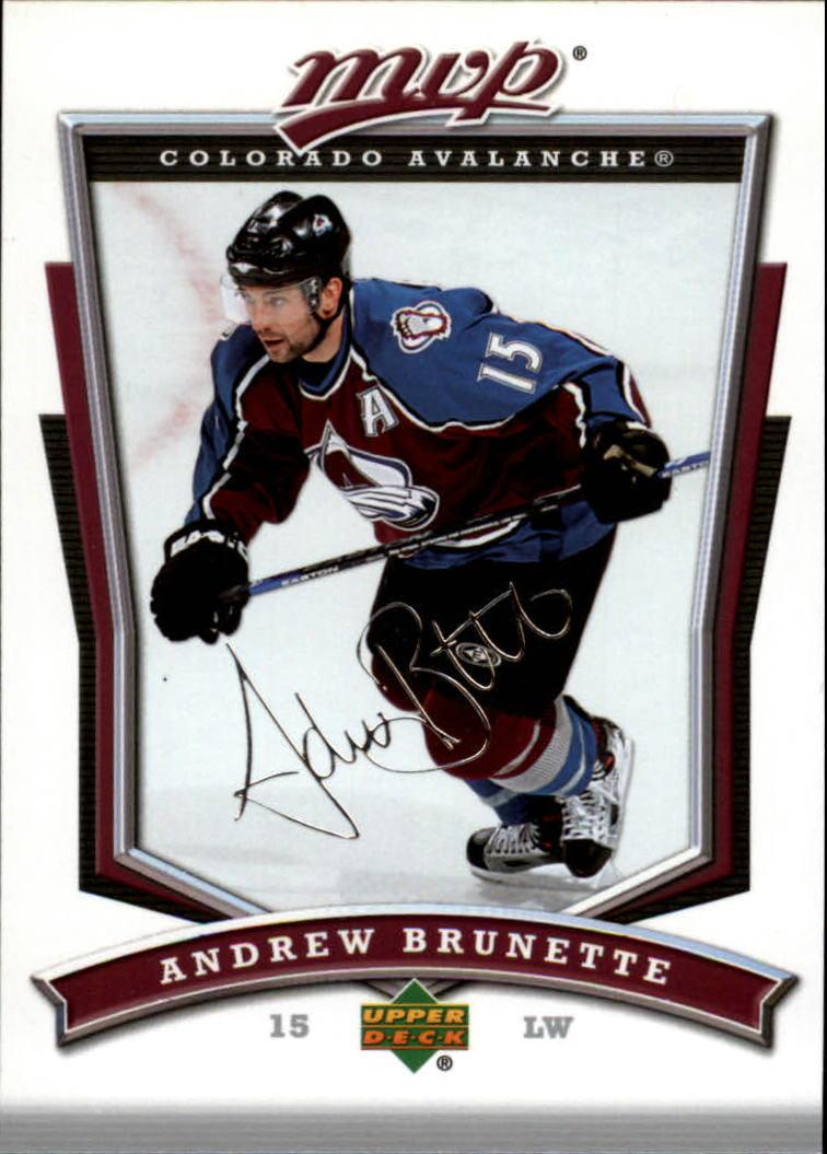 2007-08 Upper Deck MVP #5 Andrew Brunette
