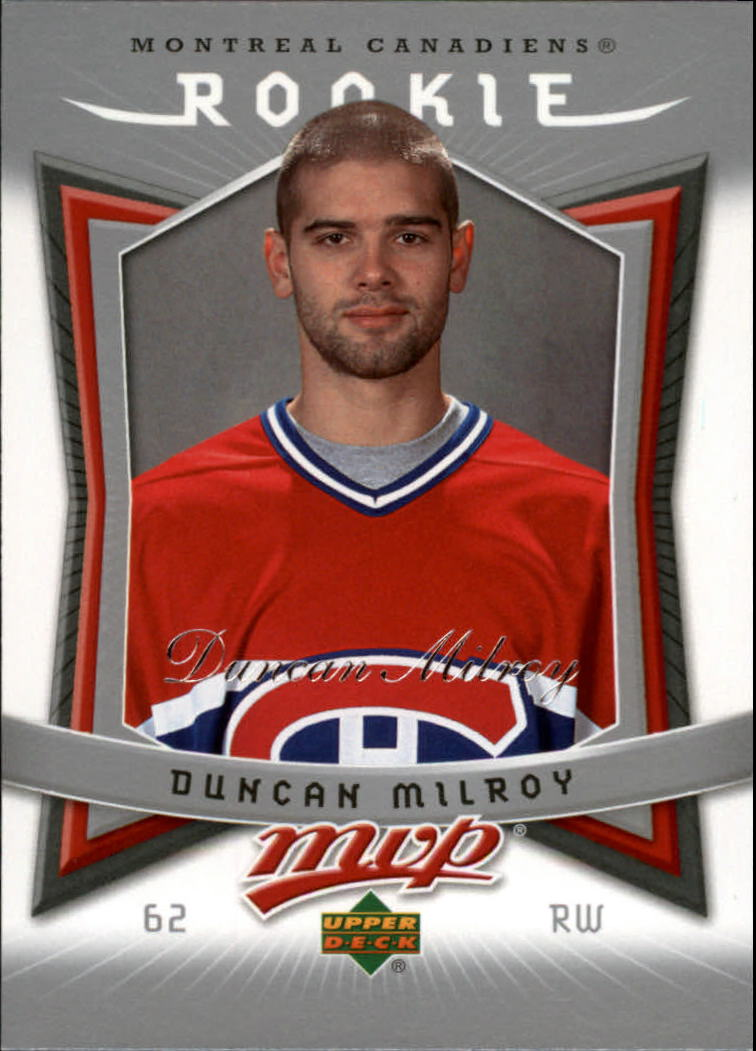 2007-08 Upper Deck MVP #312 Duncan Milroy RC