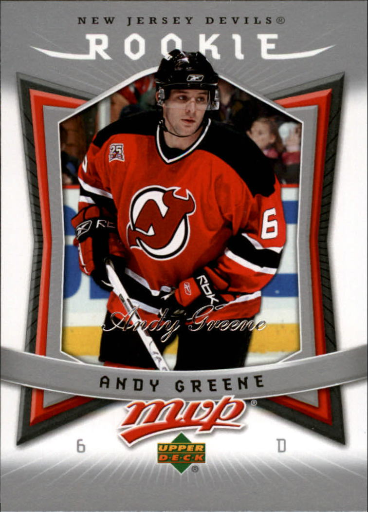 2007-08 Upper Deck MVP #317 Andy Greene RC