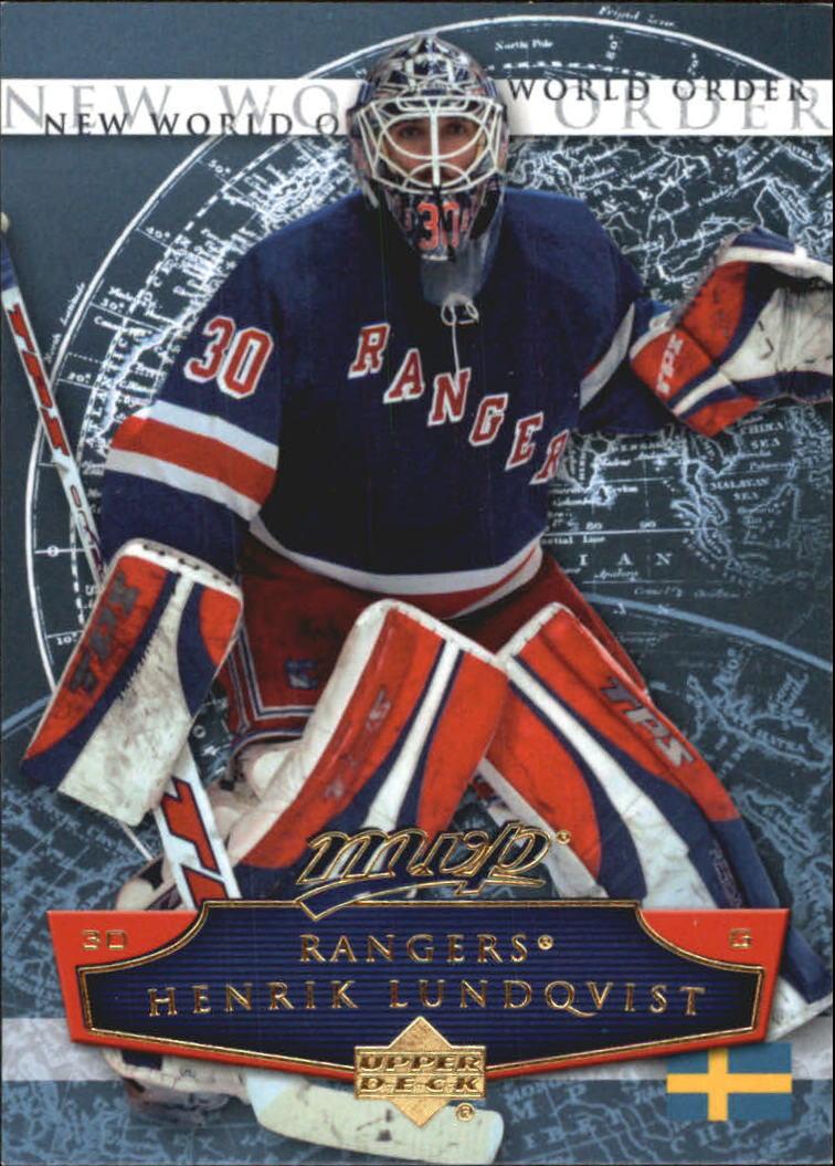 2007-08 Upper Deck MVP New World Order #NW12 Henrik Lundqvist