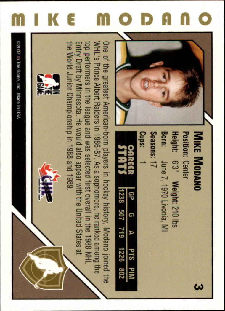 2007-08 ITG Heroes and Prospects #3 Mike Modano back image