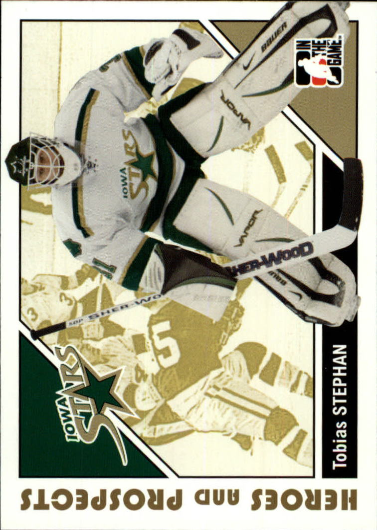 2007-08 ITG Heroes and Prospects #39 Tobias Stephan
