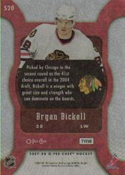 2007-08 O-Pee-Chee #520 Bryan Bickell RC back image
