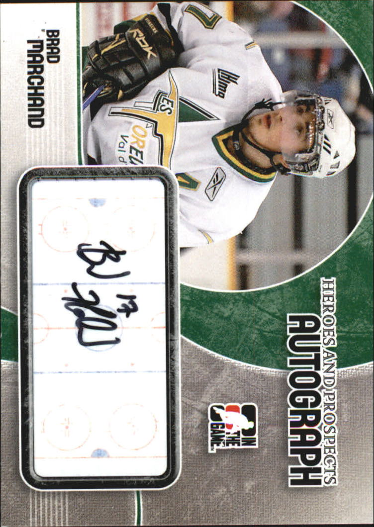 2007-08 ITG Heroes and Prospects Autographs #ABM Brad Marchand