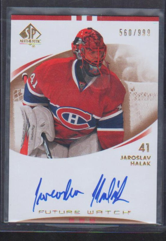 2007-08 SP Authentic #223 Jaroslav Halak AU RC