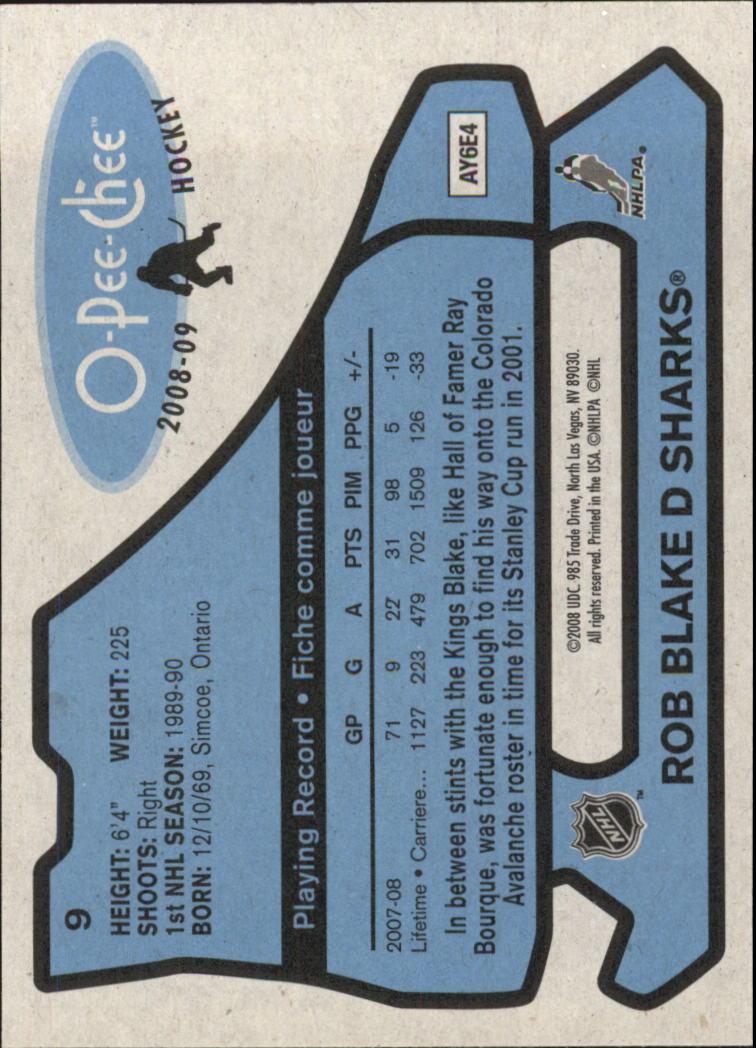 2008-09 O-Pee-Chee 1979-80 Retro #9 Rob Blake back image