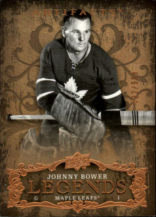 2008-09 Artifacts #103 Johnny Bower LEG