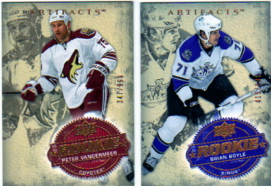 2008-09 Artifacts #209 Brian Boyle RC