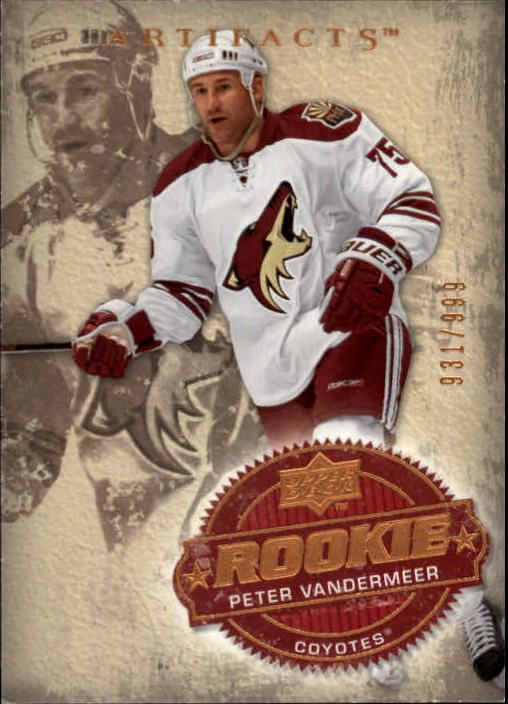 2008-09 Artifacts #225 Peter Vandermeer RC