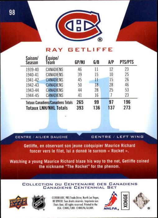 2008-09-Upper-Deck-Montreal-Canadiens-Centennial-Hockey-Card-Pick
