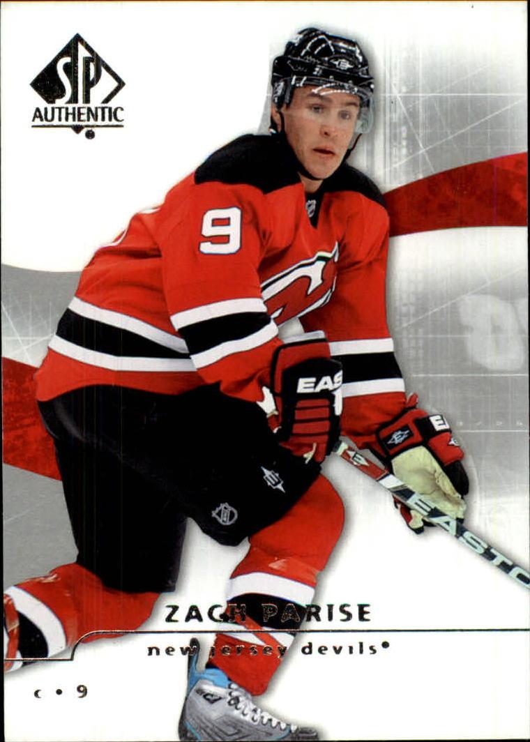 2008-09 SP Authentic #1 Zach Parise