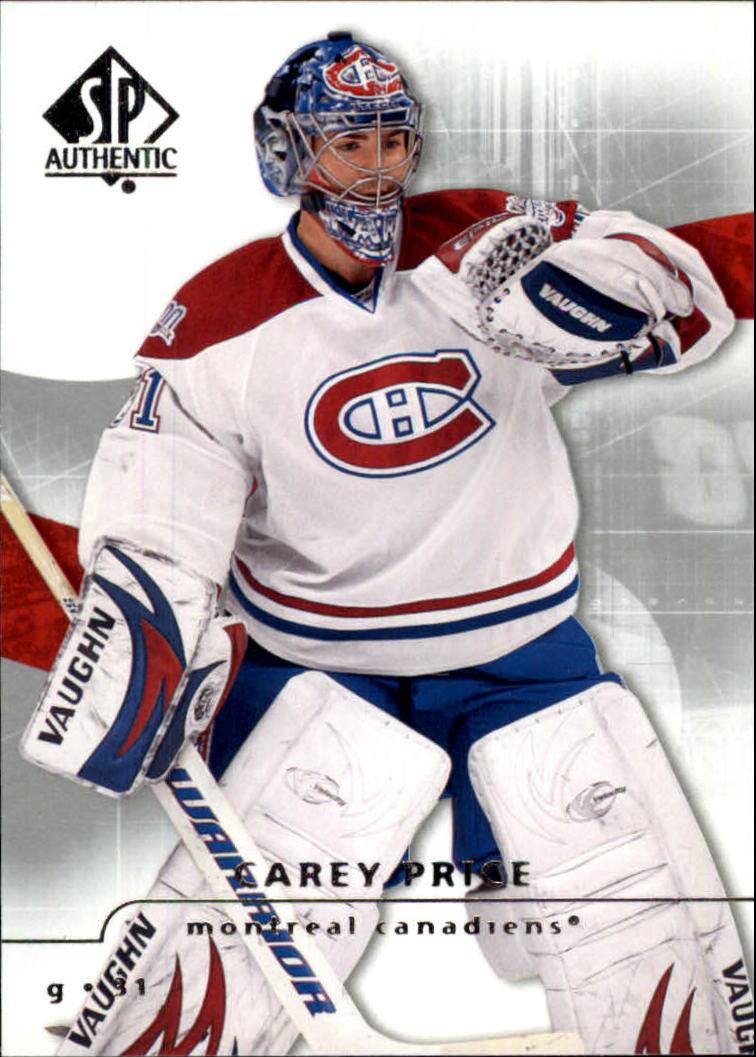 2008-09 SP Authentic #87 Carey Price