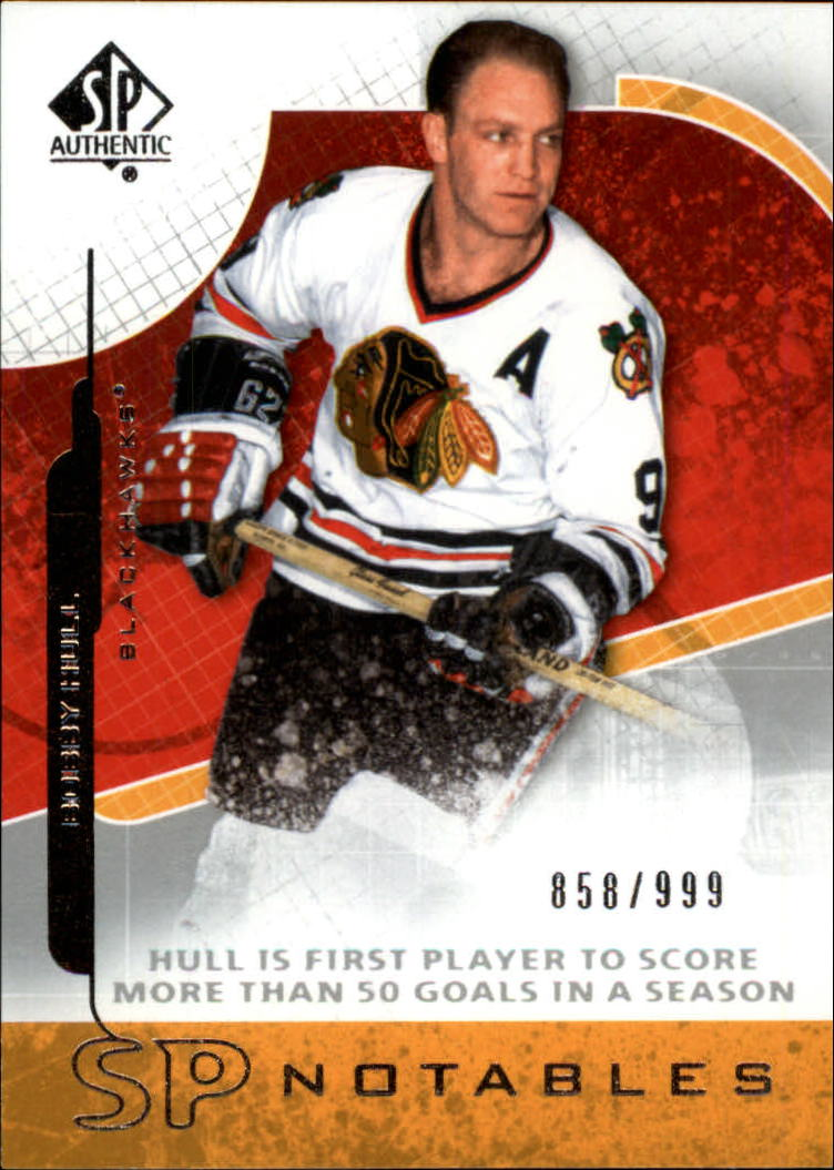 2008-09 SP Authentic #104 Bobby Hull N