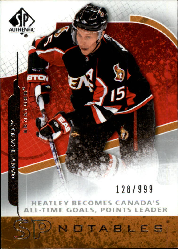 2008-09 SP Authentic #110 Dany Heatley N