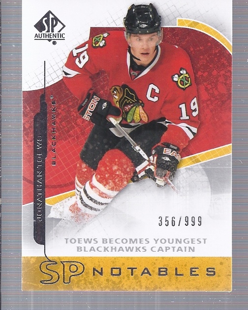 2008-09 SP Authentic #124 Jonathan Toews N