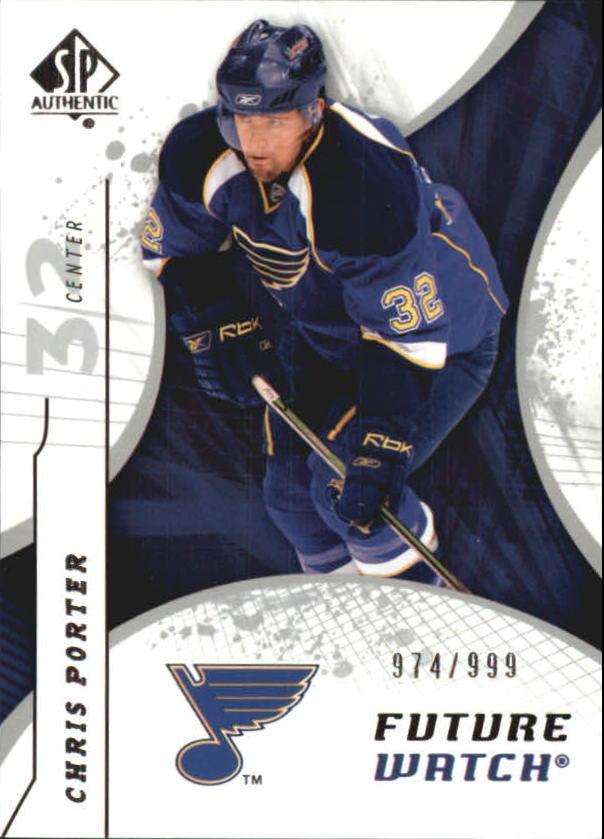 2008-09 SP Authentic #167 Chris Porter RC