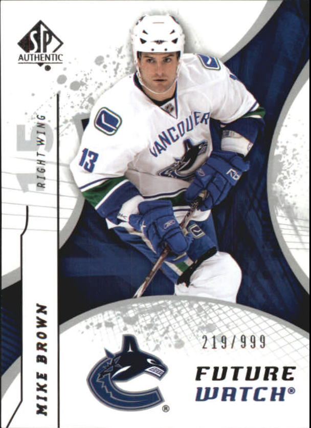 2008-09 SP Authentic #181 Mike Brown RC