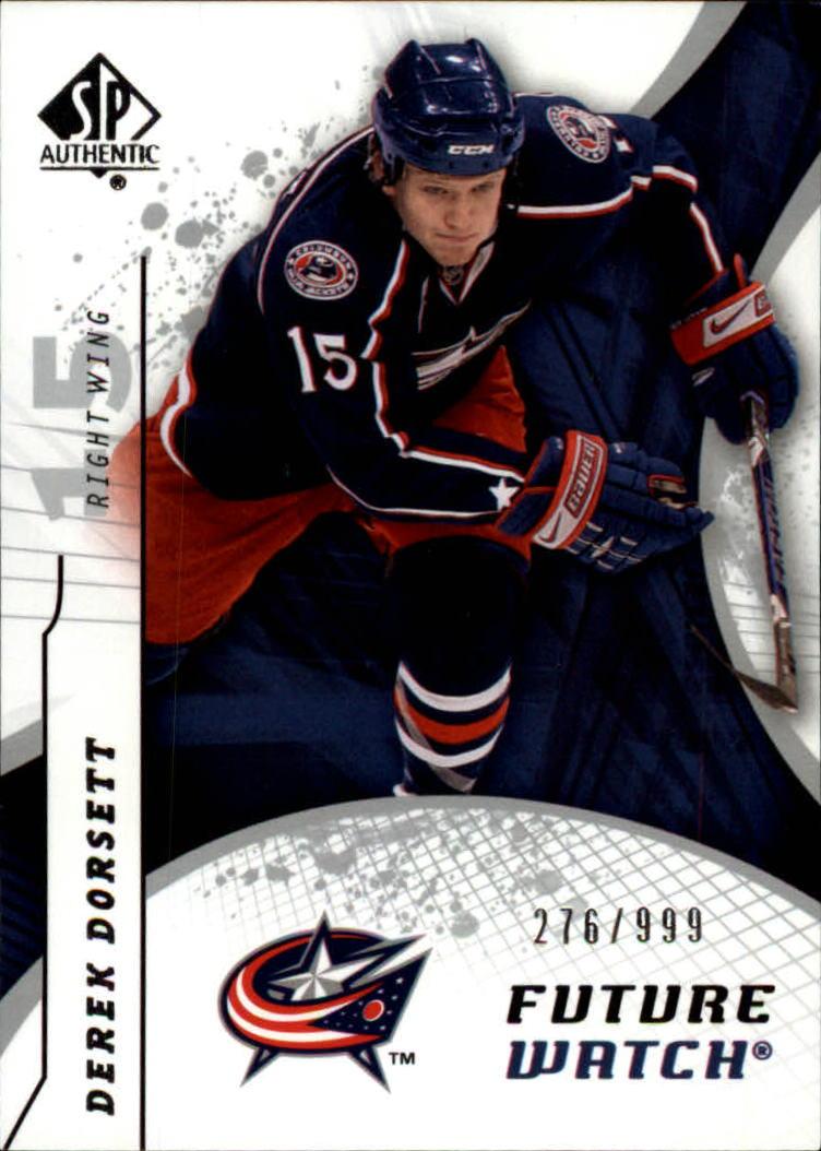 2008-09 SP Authentic #184 Derek Dorsett RC