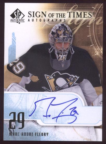 2008-09 SP Authentic Sign of the Times #STFL Marc-Andre Fleury