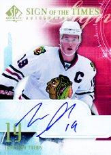 2008-09 SP Authentic Sign of the Times #STJT Jonathan Toews