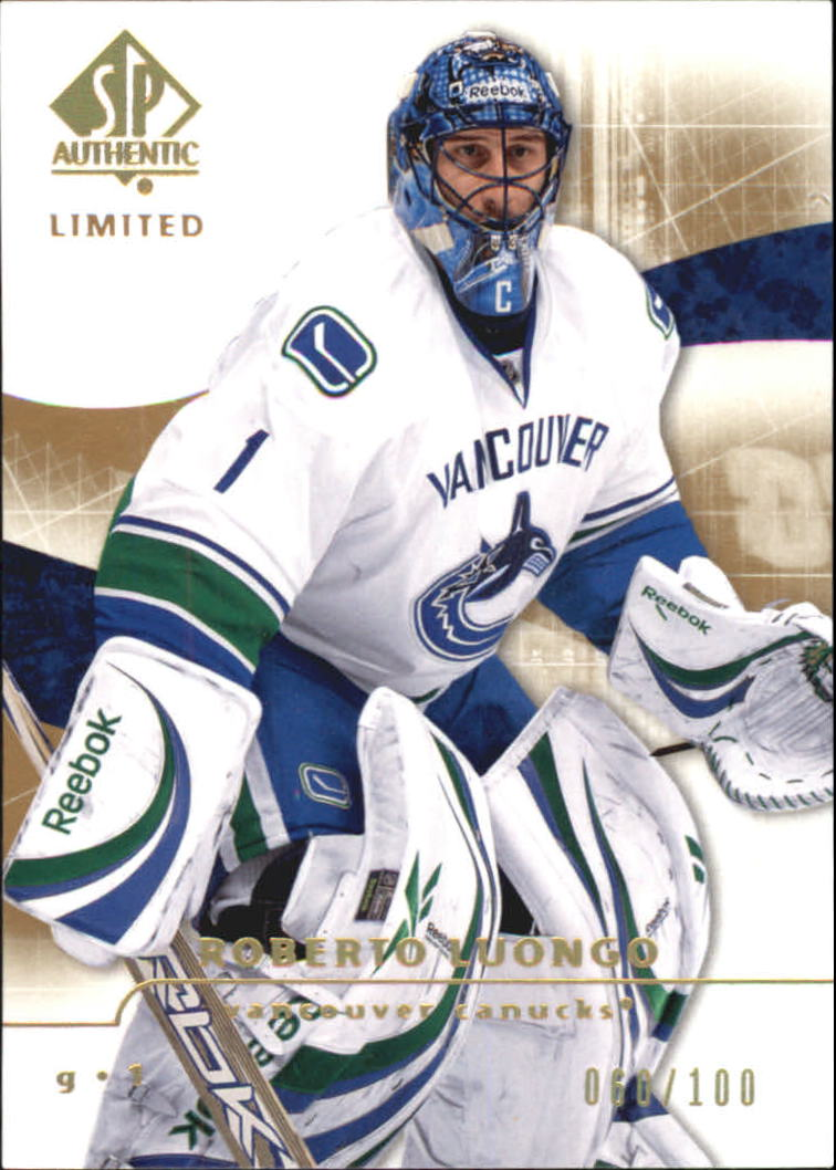 2008-09 SP Authentic Limited #18 Roberto Luongo