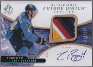 2008-09 SP Authentic Limited Autographed Patches #192 Zach Bogosian