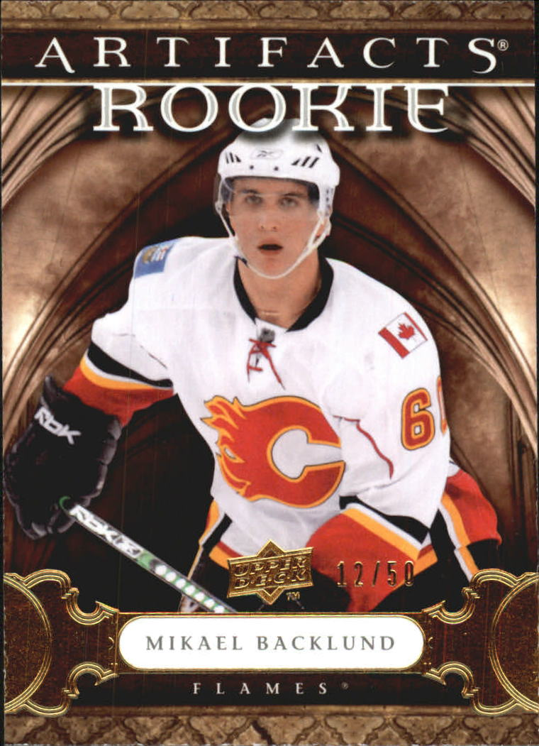 2009-10 Artifacts #161 Mikael Backlund RC