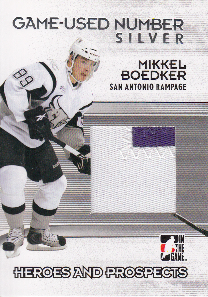 2009-10 ITG Heroes and Prospects Game Used Numbers Silver #M47 Mikkel Boedker
