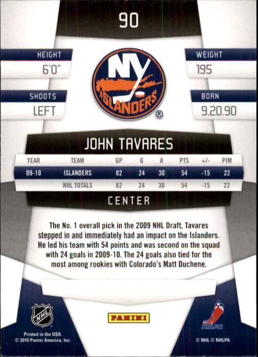 2010-11 Certified #90 John Tavares back image