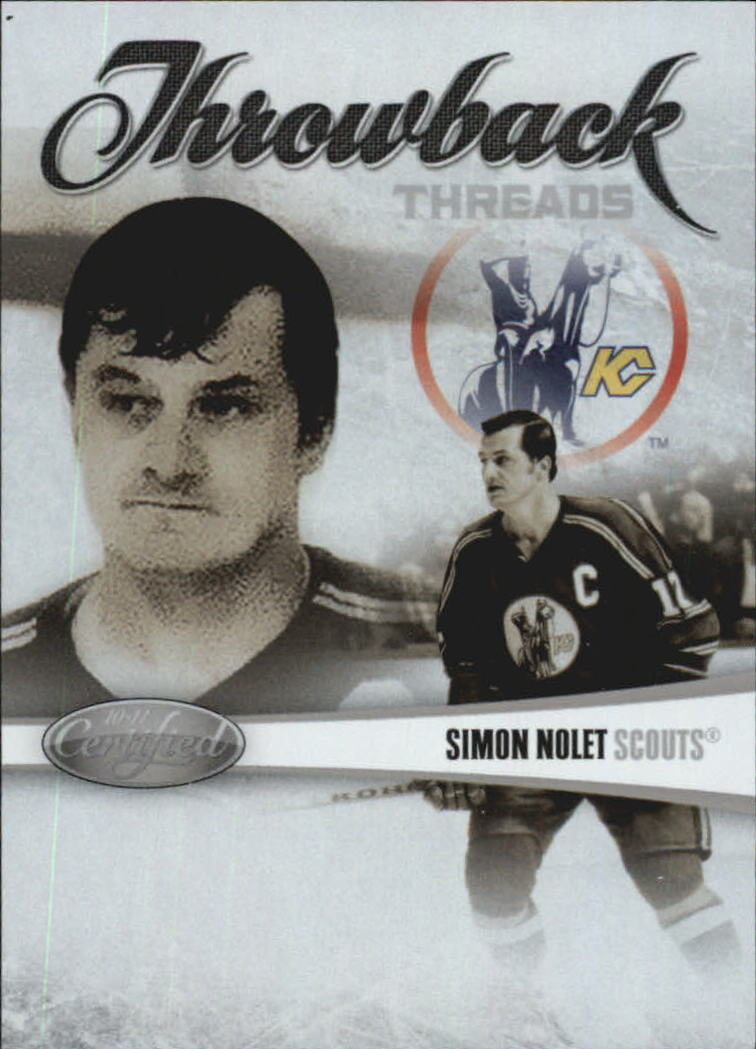 2010-11 Certified Throwback Threads #7 Simon Nolet