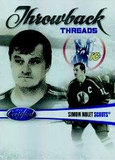 2010-11 Certified Throwback Threads Mirror Blue #7 Simon Nolet