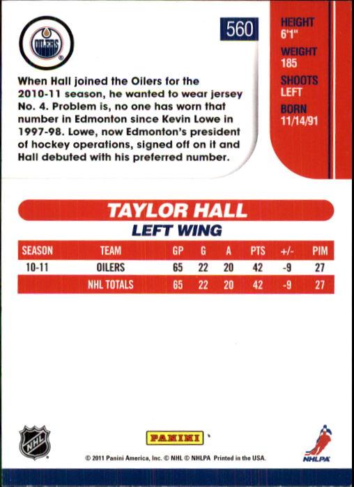 2010-11 Score #560 Taylor Hall back image