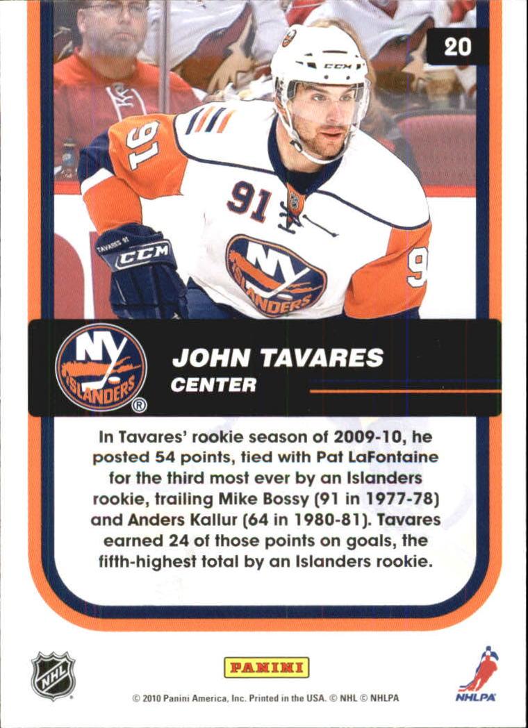 2010-11 Score Franchise #20 John Tavares back image