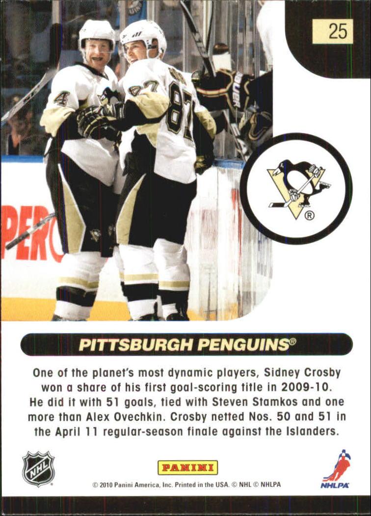 2010-11 Score Glossy #25 Sidney Crosby HL back image