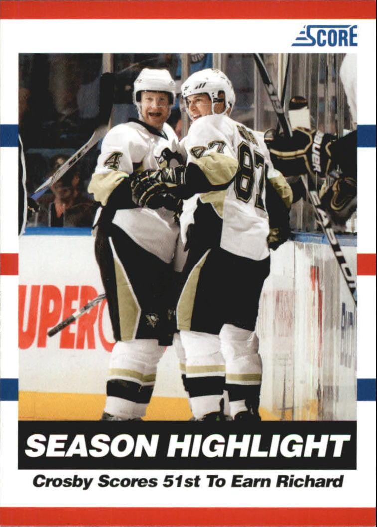 2010-11 Score Glossy #25 Sidney Crosby HL