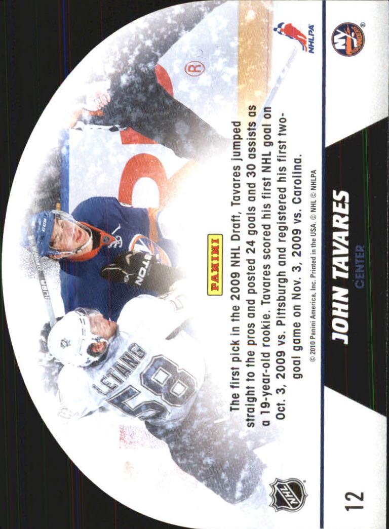 2010-11 Score Snow Globe Die Cuts #12 John Tavares back image