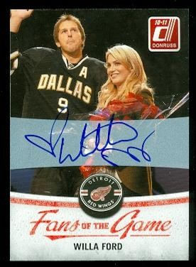 2010-11 Donruss Fans of the Game Autographs #5 Willa Ford