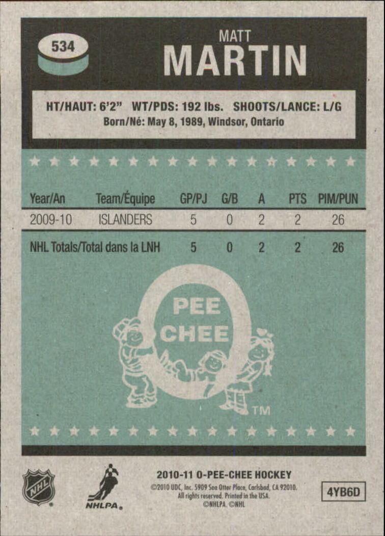 2010-11-O-Pee-Chee-Retro-Parallel-Hockey-Cards-Pick-From-List miniature 119