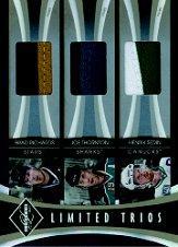2010-11 Limited Trios Materials Prime #RTS Brad Richards/Joe Thornton/Henrik Sedin