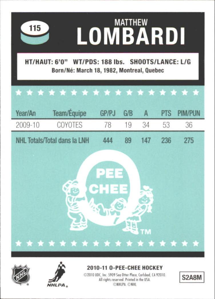 2010-11-O-Pee-Chee-Retro-Rainbow-Hockey-Card-Pick miniature 47
