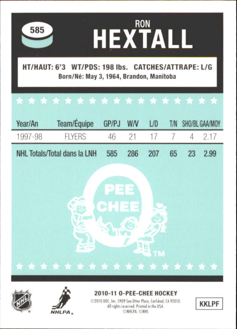 2010-11-O-Pee-Chee-Retro-Rainbow-Hockey-Card-Pick miniature 250