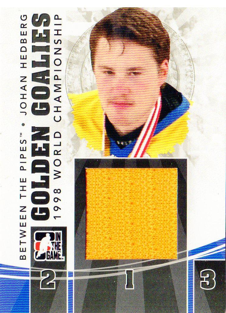 2010-11 Between The Pipes Golden Goalies Jerseys Black #GG24 Johan Hedberg
