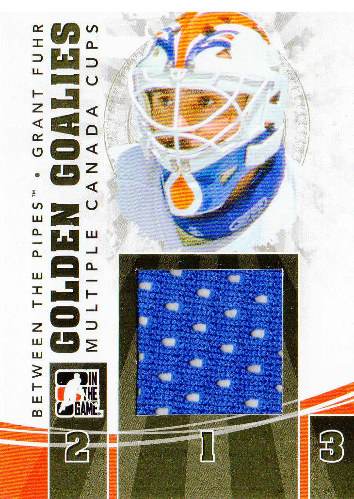 2010-11 Between The Pipes Golden Goalies Jerseys Black #GG33 Grant Fuhr