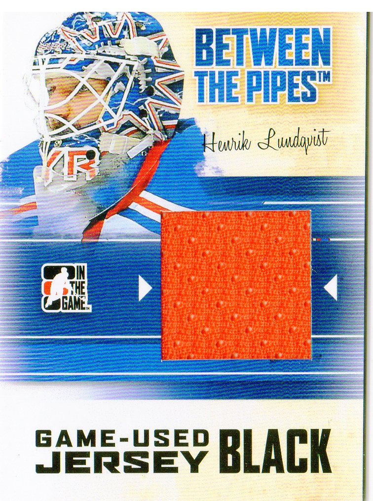2010-11 Between The Pipes Jerseys Black #M18 Henrik Lundqvist