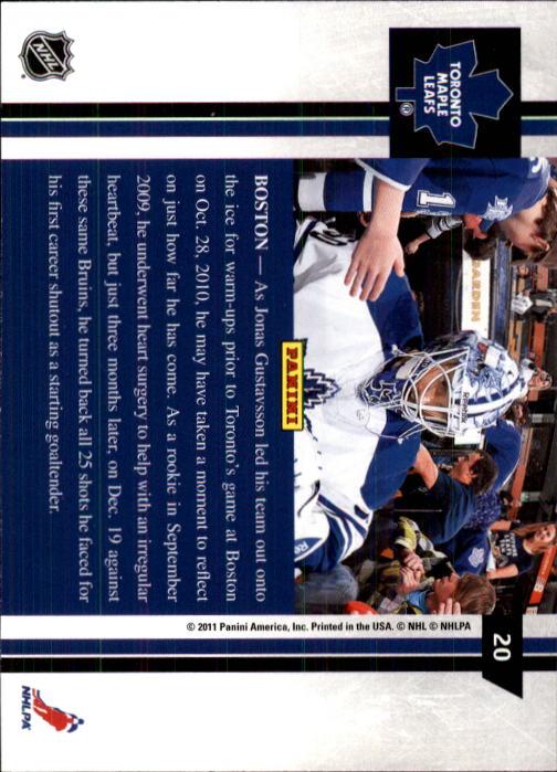 2010-11 Pinnacle #20 Jonas Gustavsson back image