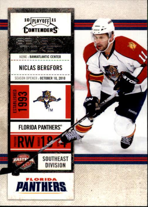 2010-11 Playoff Contenders #2 Nicklas Bergfors